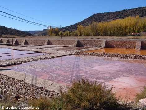 Salinas de Imón, estanques